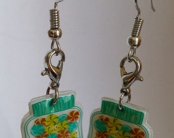 Reversible candy jar earrings