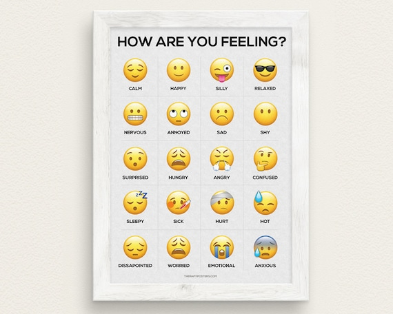 How Are You Feeling Emoji Feelings Chart Poster