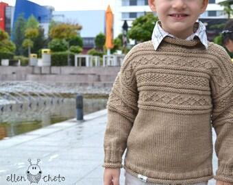 Beige or white merino wool sweater