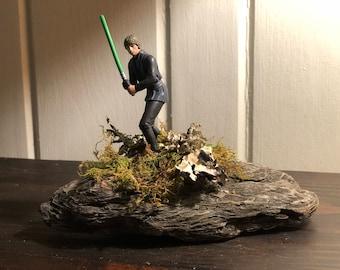 Luke Skywalker Driftwood Art Piece
