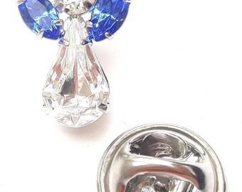 Swarovski Crystal Elements Birthstone Guardian Angel Pin September Sapphire