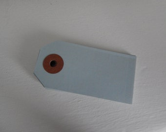 Blue parcel tags - pack of 10
