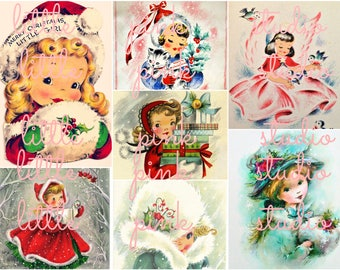 Christmas Cuties collage sheet (printable, digital download)