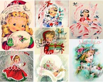 Christmas Cuties collage sheet (printable, digital download)