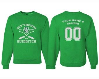 Harry Potter Quidditch Slyterin Sweatshirt