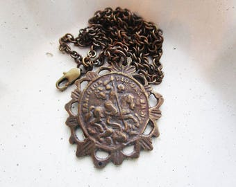 St. George and the Dragon Necklace