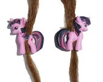 Rainbow unicorn pegasus my little pony dread dreadlocks bead