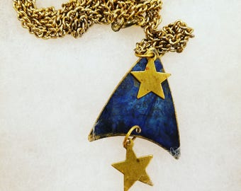 Star Trek inspired charm pendant necklace