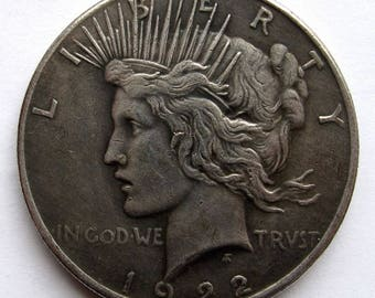 Two-Sided-Trick Coin-Peace-Silver-Dollar-Double-Heads-Dark Night Coin