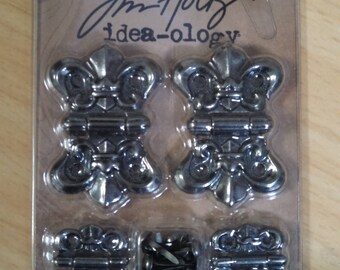 tim holtz idea-ology hinges with fasteners