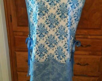 Blue tunic apron