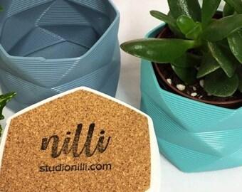 Large Pot / Planter / Desk Tidy - 3D Printed For Cacti/Cactus, Succulents, Houseplants