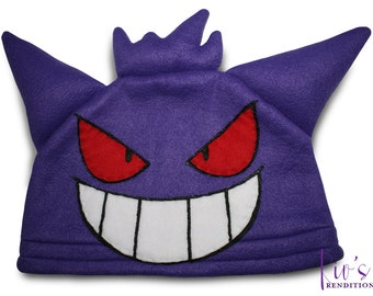 Video Game Hat - Gengar - Pokemon Hat - Super Cozy Beanie