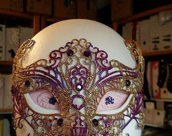 mask, Wolf synthetic soft gold and purple