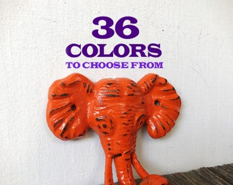 Cast iron elephant wall hook / Jungle Nursery Decor / towel hook / key hook / jewelry hook / Coat Hook / animal hook / Safari kids room