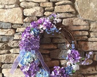 Spring Wreath, Wreath, Door Decor, Grapevine Wreath, Summer Wreath, Gifts, Everyday Wreath