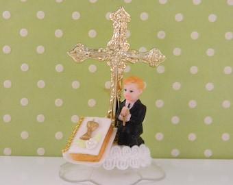 First Communion Cake Topper / Decoration / Boy