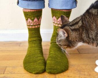 Rowhouse Socks Knitting Pattern PDF