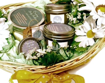 Skin Care Spa Giift Basket, Handmade All Natural  for Mom to Be Pampering Spa Skin Care Gift Set Pregnancy Gift, Maternity Gift