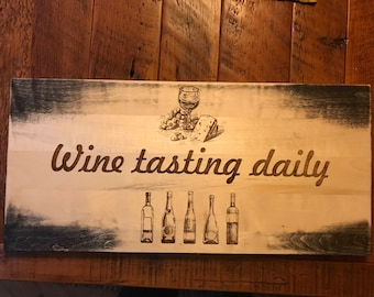 Solid Aspen wine tasting daily sign