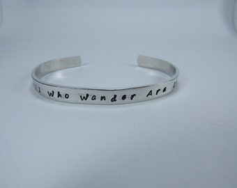 Statement Cuff Bracelet, Hand-stamped cuff, personalized jewelry, aluminum bracelet, stacking bracelet
