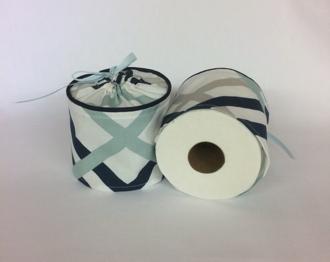 Bathroom Decor, Nautical Decor, Bathroom, Blue, Toilet Paper Holder, Bathroom Storage, Bathroom Accessories, Toilet Paper Cover, Spare Roll,