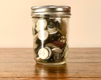 Jelly Jar of Vintage Buttons