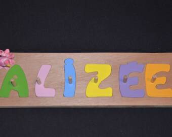 Wooden name puzzle / personalized Puzzle / educational toy