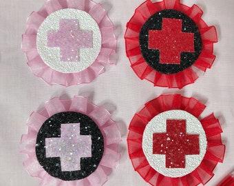 CHOOSE COLOUR Menhera Yami-Kawaii Yume-Kawaii Nurse Cosplay Medical Medicine ROSETTE Pin Brooch Accessory Cute Creepy Gothic