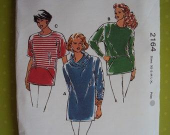 Kwik Sew  2164 pattern for women's  tops and tunics   XS-XL-uncut -sealed