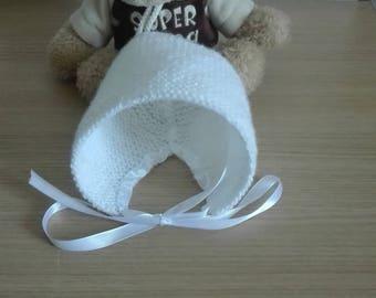 Hat bonnet baby 0/3 months