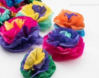 Fiesta Paper Tissue Flowers