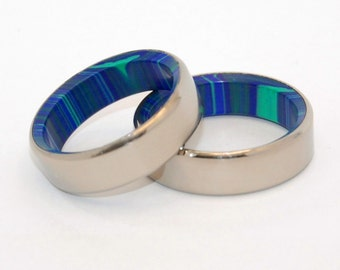 wedding rings, titanium rings, stone rings, mens rings, Titanium Wedding Bands, Eco-Friendly Wedding Rings, Wedding Rings - IN THIS TOGETHER