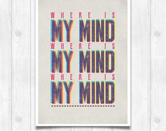 20% OFF!! Pixies lyrics - Music poster Music print Lyrics Print
