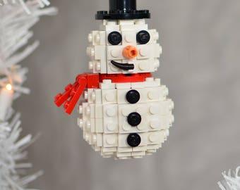Lego Christmas Ornament - Snowman