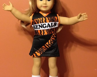 "Cincinnati cheer outfit for american girl doll or 18"" doll"