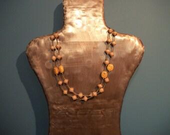 Orangey Bead Necklace