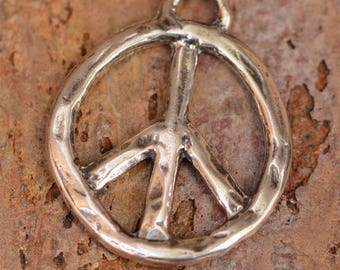 Sterling Silver Peace Pendant,  -PP1