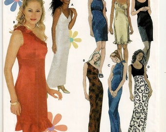 An Empire Waistline Bridesmaid Dress Pattern with Bodice and Length Variations: Uncut- Junior Sizes 3/4 - 5/6 - 7/8 - 9/10 ~ Simplicity 9590