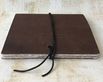 Distressed Brown Leather Journal, sketchbook, blank book