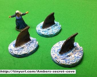Shark Fin set (3)  28mm Hand Painted
