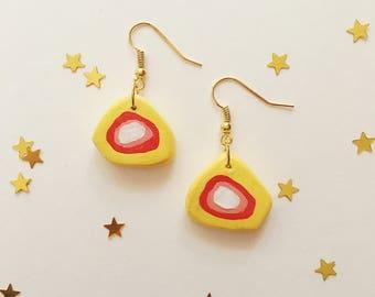 earrings - abstract geode