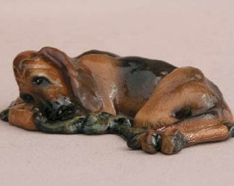 Bloodhound Dog Figurine