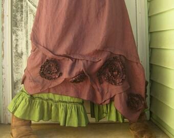 Swirly Slant Skirt