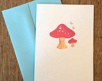 Mushroom Love -- Watercolor Notecards