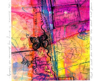 Painted Prayer No. 11 ...  art archival Spiritual print from original painting by Kathy Morton Stanion EBSQ