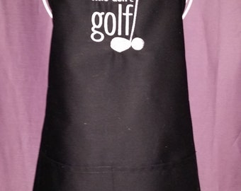 Mens Apron - Work is for People Who Don't GOLF