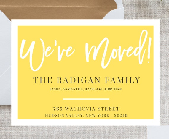 we moved card template moving announcement card we u0026 39 ve