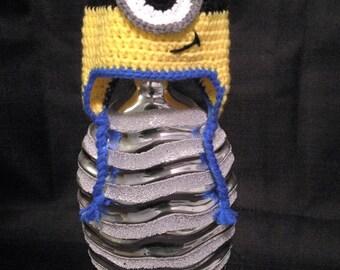 Crochet Minion Newborn Hat.