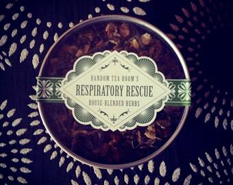 Respiratory Rescue Loose Leaf Herbal Blend  3oz Tin (Organic) (Wild harvested)